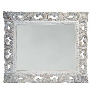 WHITEWASH DECORATIVE RECTANGLE MIRROR METRO MENLYN